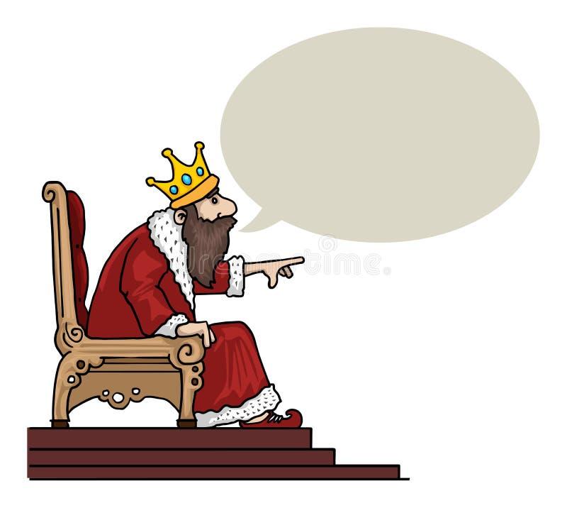Caractère de roi illustration libre de droits