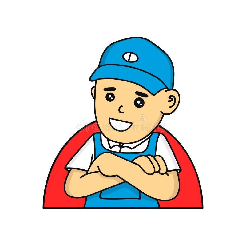 Download Caractère De Vecteur De Bande Dessinée De Mécanicien Ou De Plombier Illustration de Vecteur - Illustration du mascotte, vecteur: 77157814