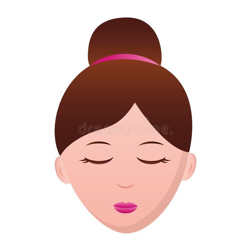 Caractère de visage de femme illustration libre de droits