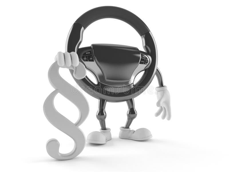 Caractère de volant de voiture avec le symbole de paragraphe illustration de vecteur