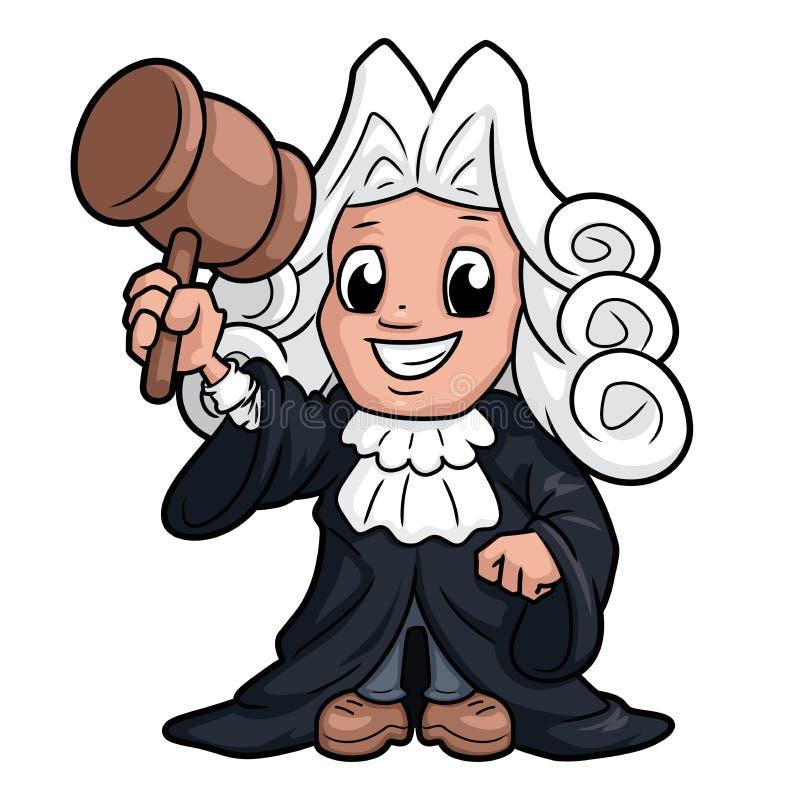 Caractère drôle de juge illustration stock