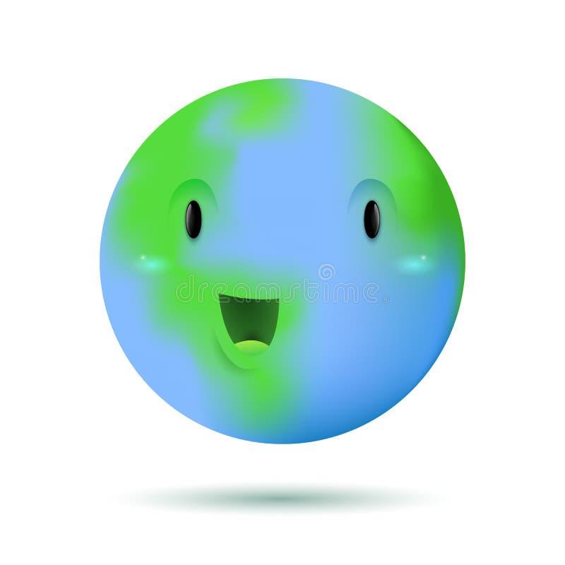 Caractère drôle mignon de planète de la terre illustration libre de droits