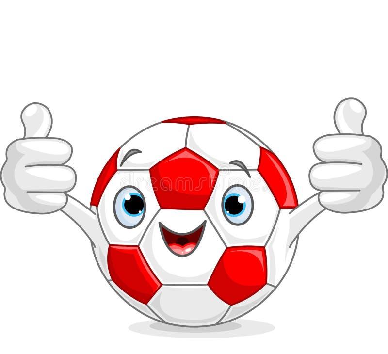 Caractère du football du football illustration stock