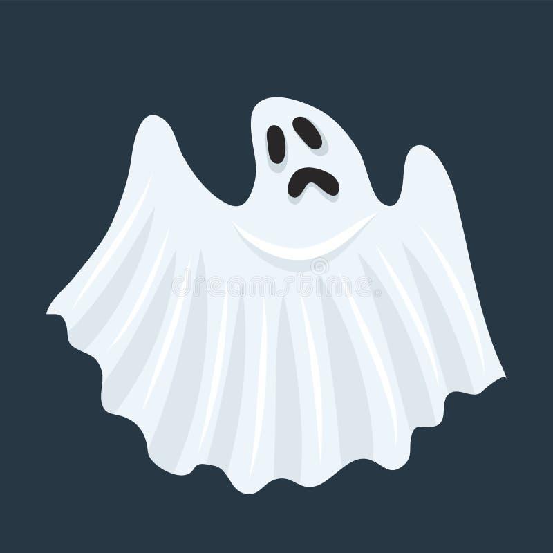Caractère fantôme. Halloween monstre fantomatique effrayant, boo effrayant mort spoo et joli boohoo drôle de mouche animé ou h illustration stock