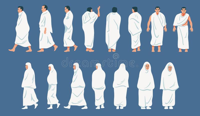 Caractère figuratif de pèlerinage de hadj illustration libre de droits