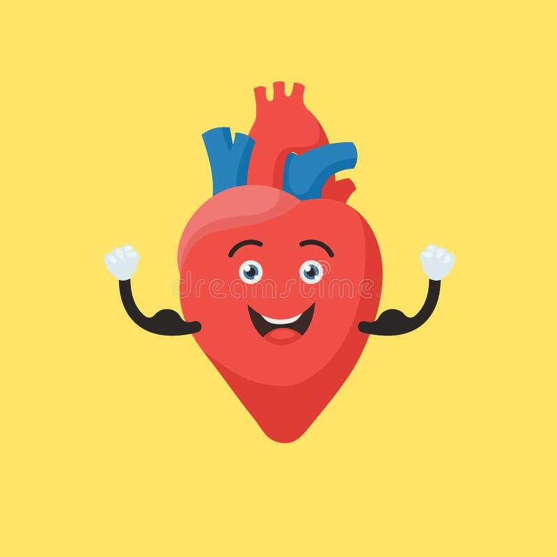 Caractère fort de coeur illustration stock