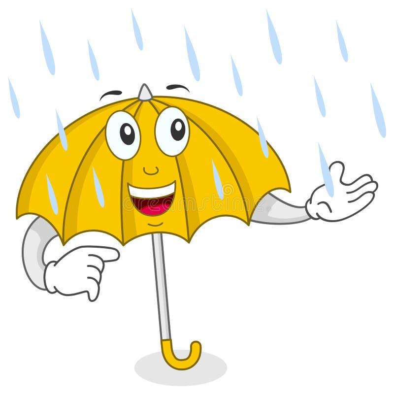 Caractère heureux de parapluie illustration stock