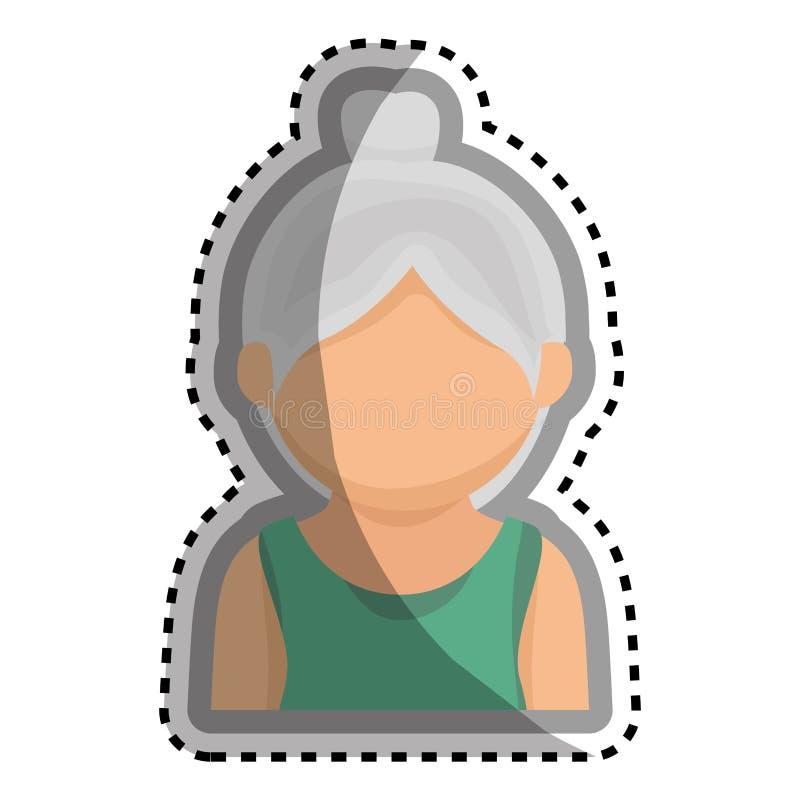 Download Caractère Mignon D'avatar De Grand-mère Illustration de Vecteur - Illustration du illustration, verticale: 87704647