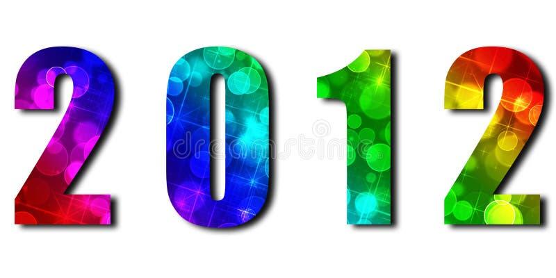 caractères 2012with de fête photo stock