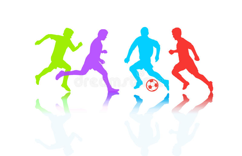 Caractères de dessin animé et de sport illustration stock