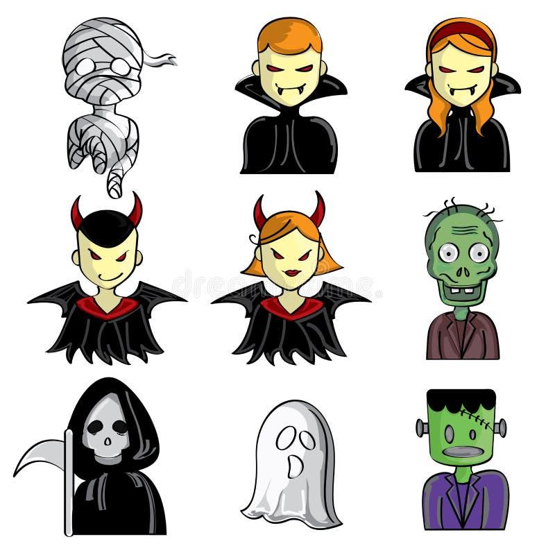Caractères de Halloween illustration libre de droits