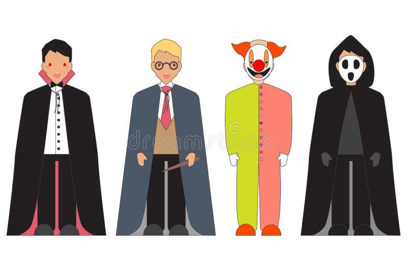 Caractères de Halloween illustration stock