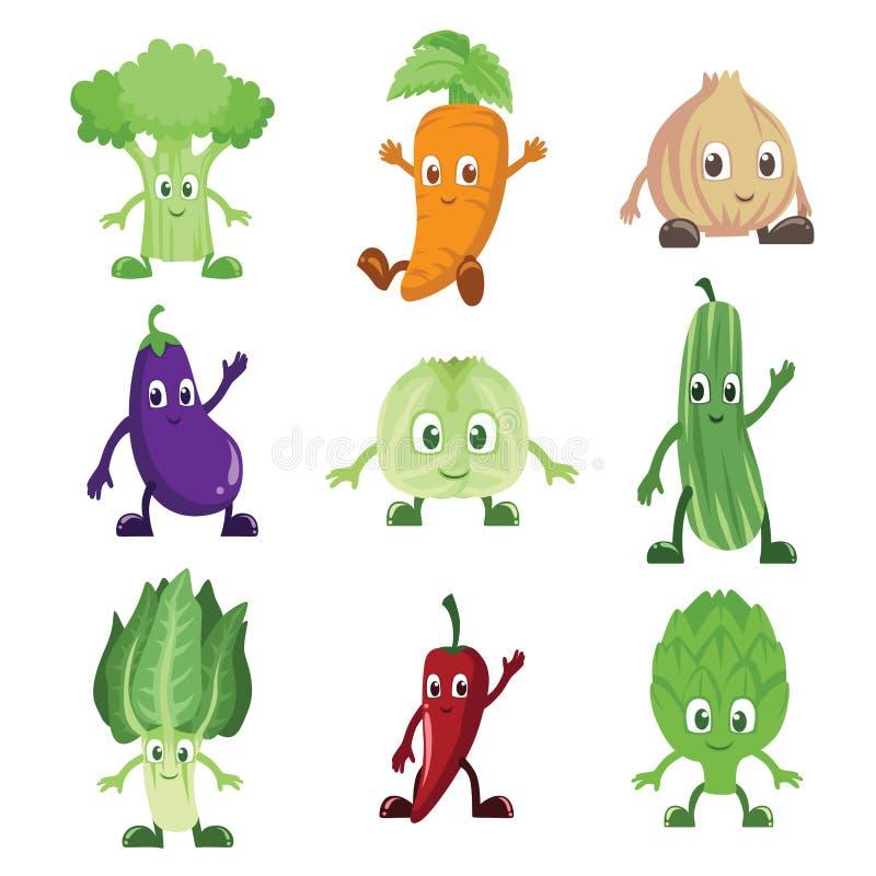 Caractères de légumes illustration stock