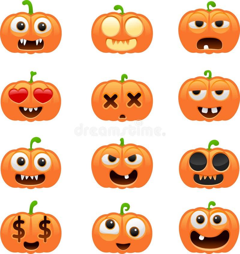 Caractères de potiron de Halloween illustration libre de droits