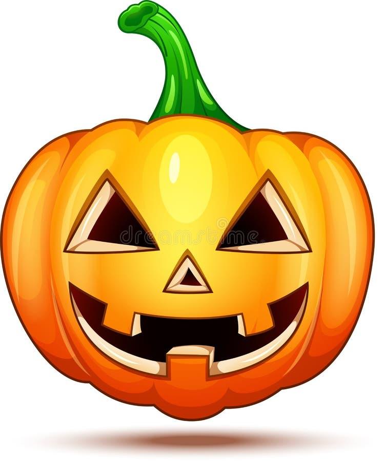 Caractères de potiron drôles, drôles, et fous Émoticônes de bande dessinée de Halloween illustration libre de droits