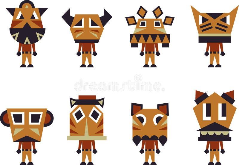 Caractères de totem illustration stock