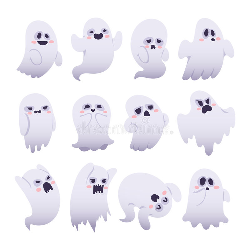 Caractères de vecteur de Ghost illustration libre de droits