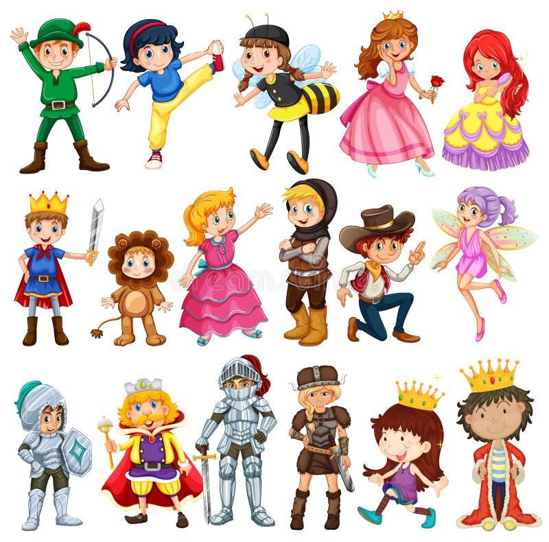 Caractères différents des contes de fées illustration libre de droits