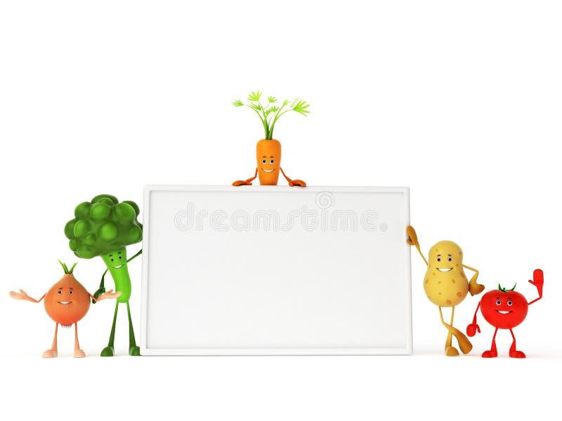 Caractères drôles de nourriture illustration stock