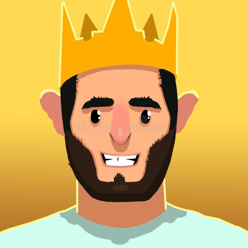 Caractères du Roi Smile photo stock