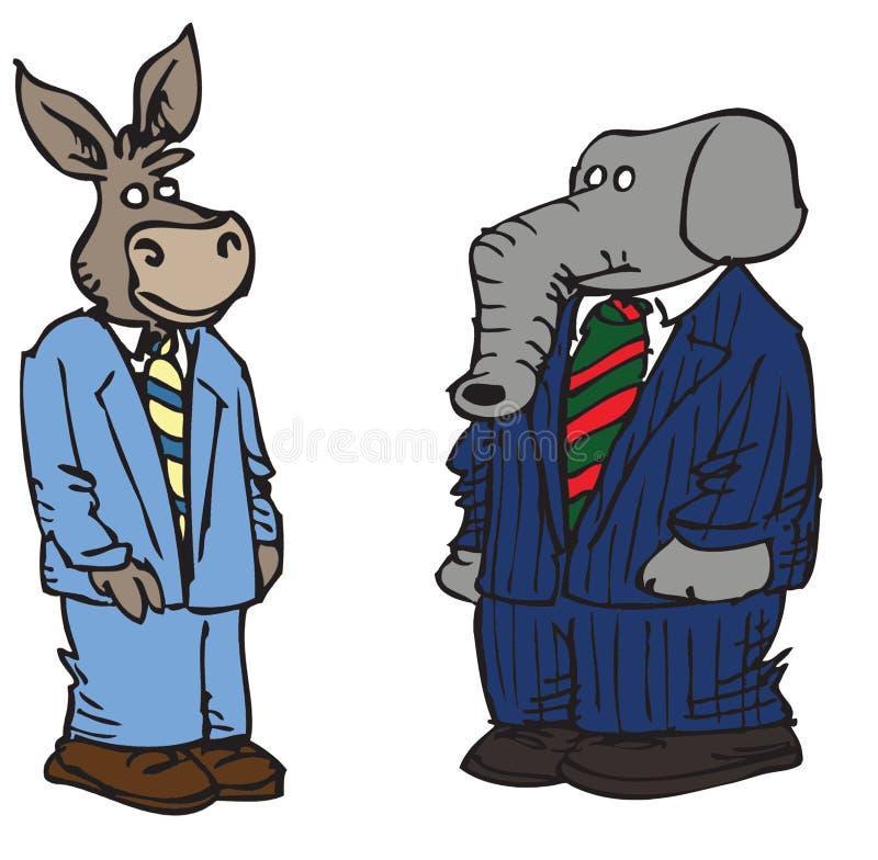 Caractères politiques de dessin animé illustration stock