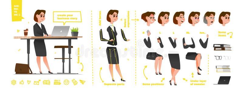 Caractères stylisés réglés pour l'animation illustration libre de droits