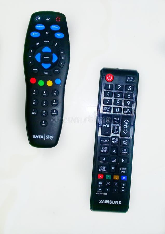 caractéristiques anticipées d'extérieur de télévision sur le fond blanc photographie stock