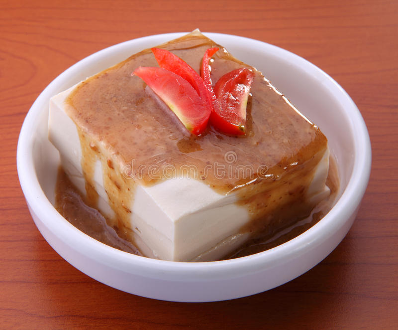 Caractéristiques asiatiques de tofu photo libre de droits