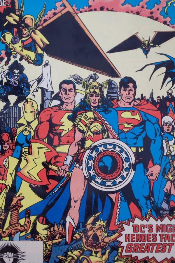 Caract?re comique de super h?ros de C.C de Shazam illustration stock