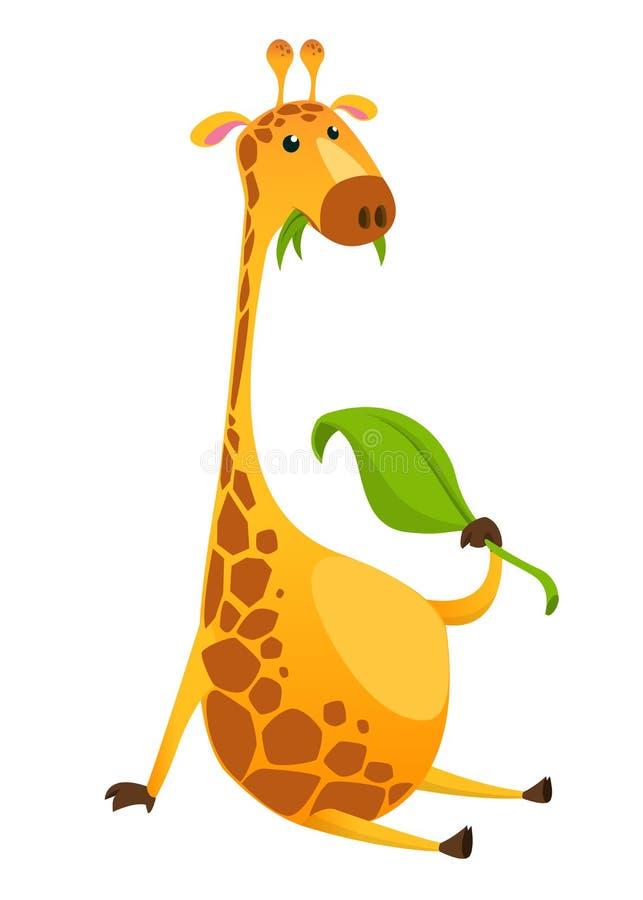 Caract?re de girafe de bande dessin?e Illustration de vecteur illustration de vecteur