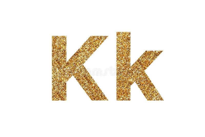 Caract?re K Alphabet anglais D'isolement sur le fond blanc images stock