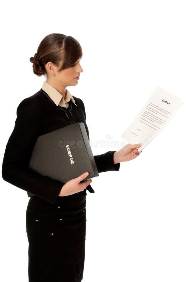 Características do contrato fotos de stock