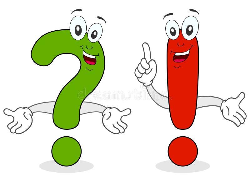 Caracteres de la exclamación de la pregunta libre illustration