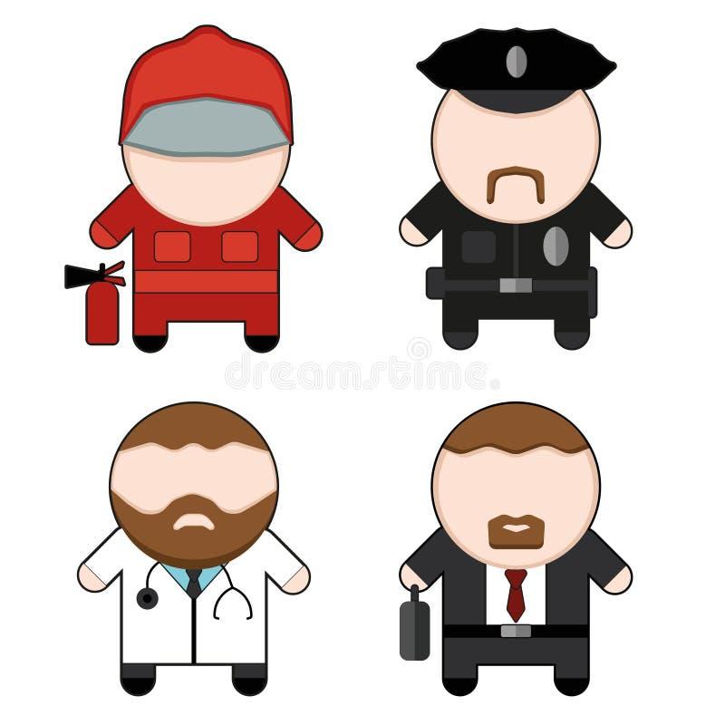 Caracteres de la profesión y de la materia fijados libre illustration