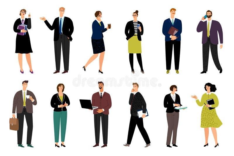 Caracteres del negocio de la historieta stock de ilustración