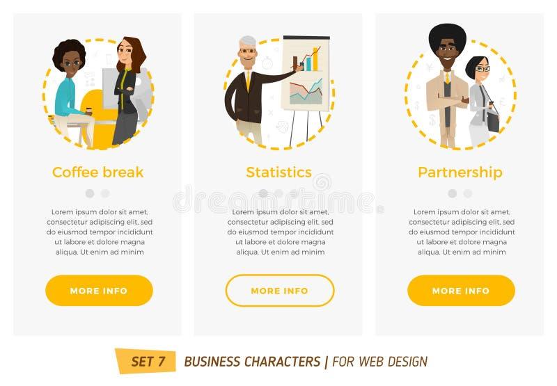 Caracteres del negocio fijados ilustración del vector