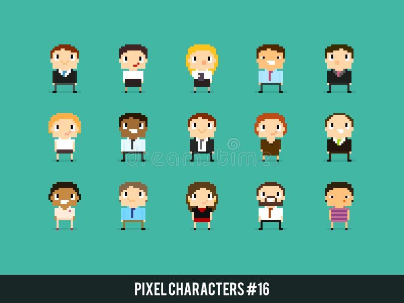 Caracteres del pixel stock de ilustración