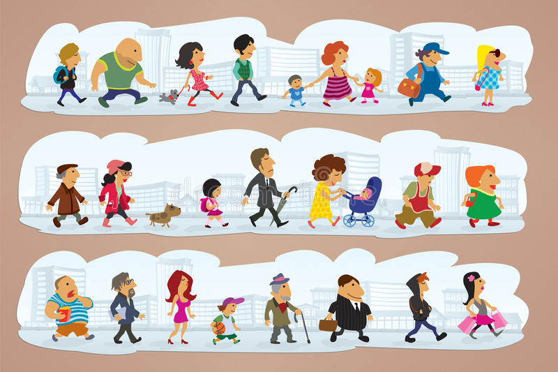 Download Caracteres en la calle ilustración del vector. Imagen de junto - 23401333
