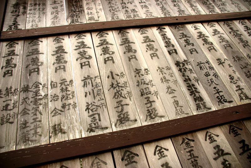 Caracteres japoneses imagen de archivo