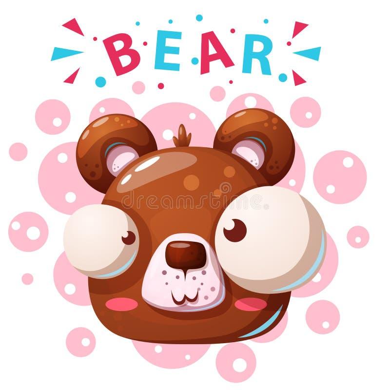 Caracteres lindos del oso - ejemplo de la historieta stock de ilustración