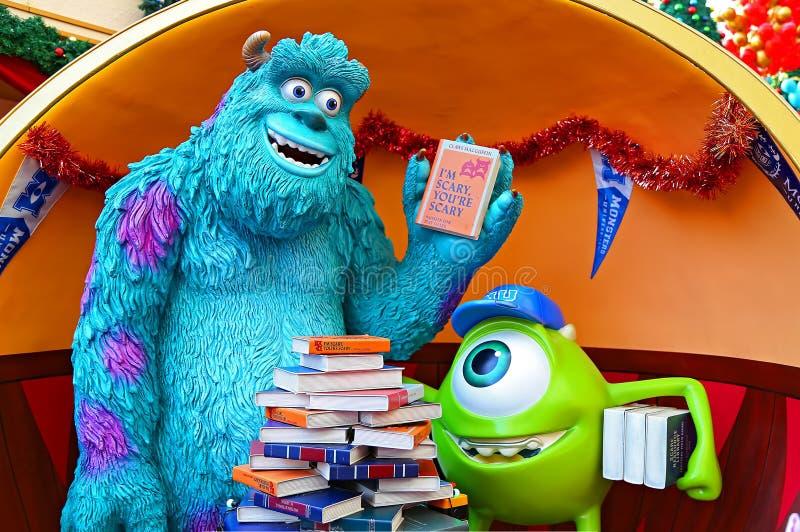 Caracteres pixar de los monstruos de Disney imagen de archivo libre de regalías