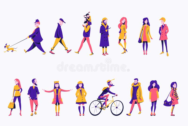 Caracteres planos libre illustration