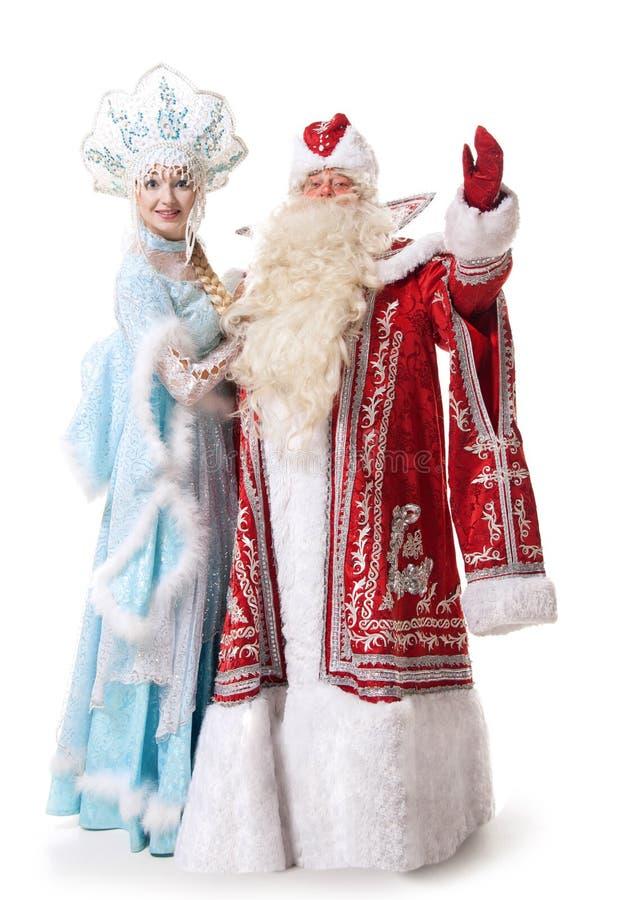 Caracteres rusos de la Navidad foto de archivo