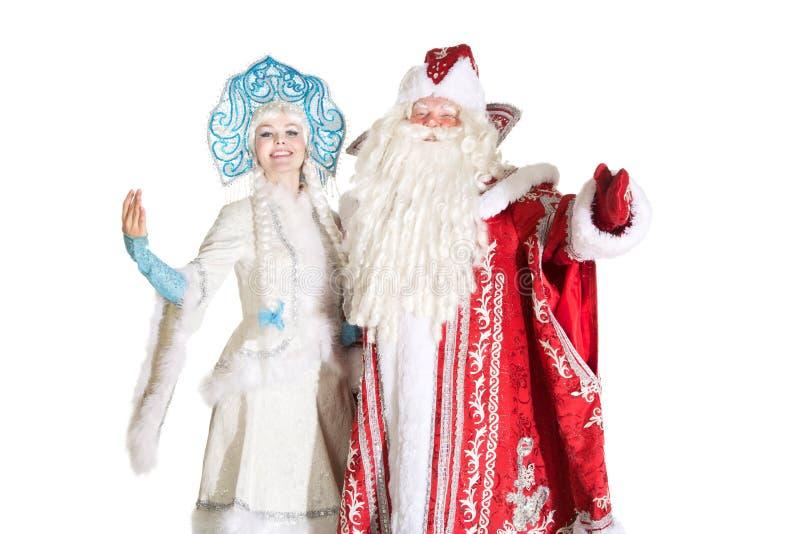Caracteres rusos de la Navidad fotos de archivo