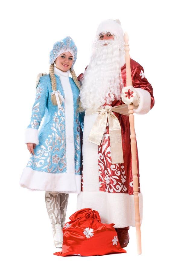 Caracteres rusos de la Navidad. Aislado imagenes de archivo
