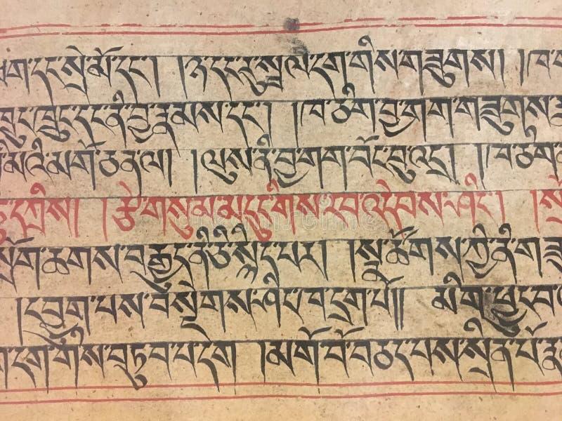 Caracteres tibetanos fotografía de archivo libre de regalías