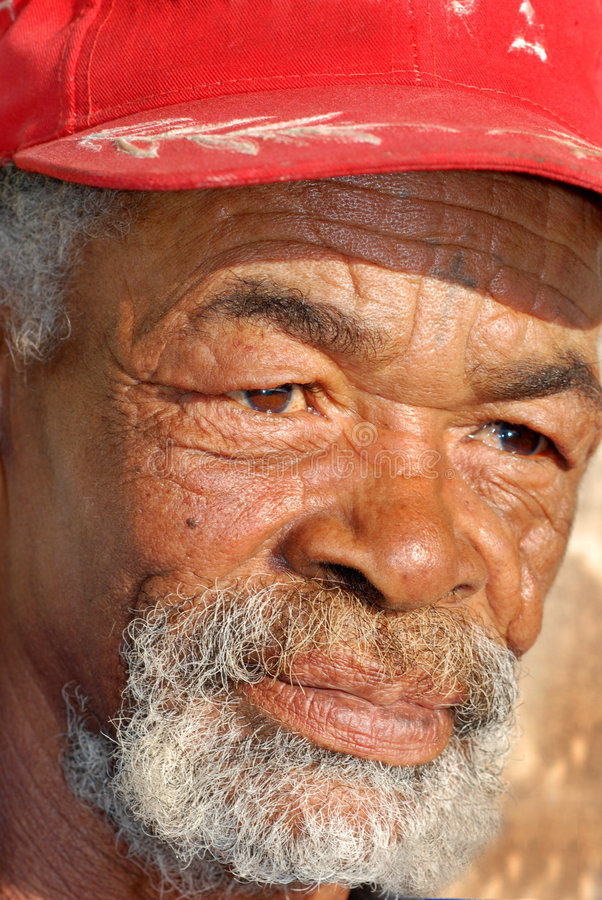 Caracterful African face stock photography
