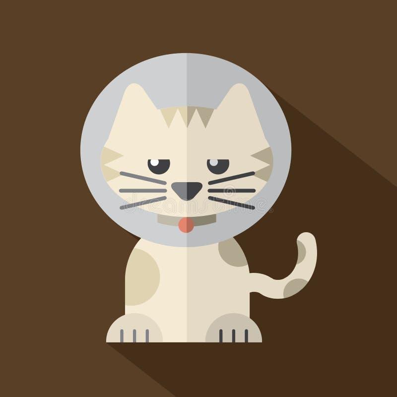 Caracterizando Cat Wearing Cat Collar ilustração royalty free