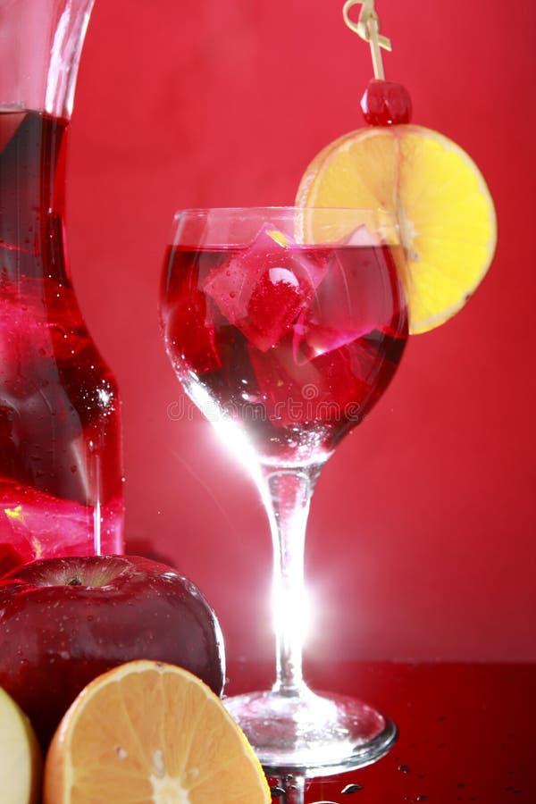 Carafe de sangria pour deux ou perforateur de fruit images stock