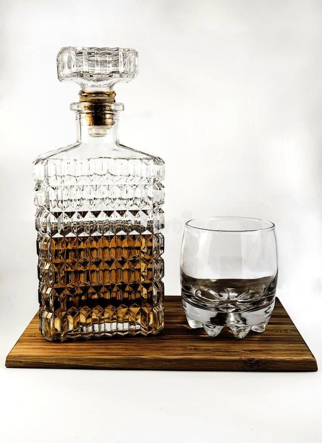 Carafe et verre de whiskey photos libres de droits